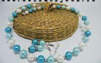 Set de bijuterii perle de sticla