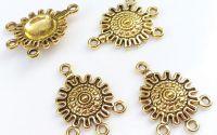 Chandelier cercei auriu simbolistic 27 mm