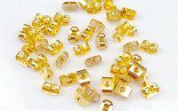 10 Fluturasi cercei aurii 6 mm