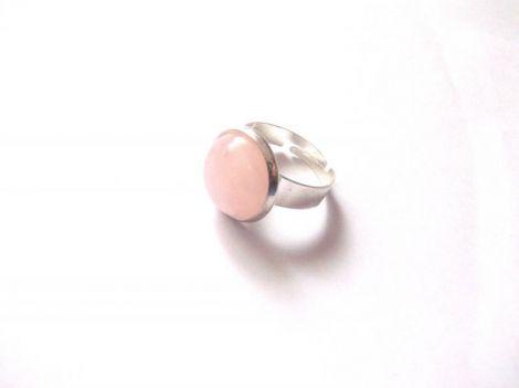 inel cu cuart roz
