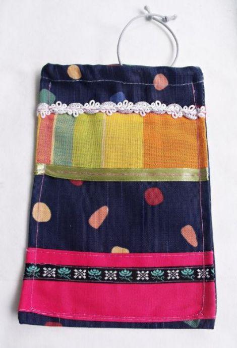 Husa - saculet multicolor pentru telefon mobil