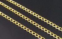 Lant metalic auriu zale rasucite 3 x 5 mm