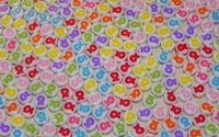 100 Margele acrilice rotunde cu fundite colorate