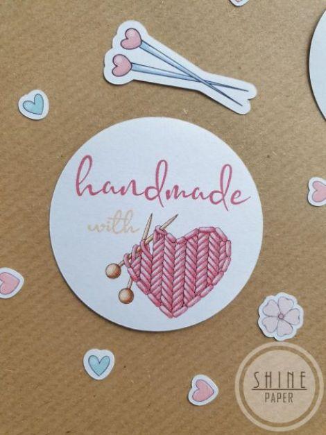 Stickere Handmade with Love produse crosetate