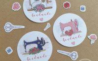 Stickere Handmade with Love produse cusute