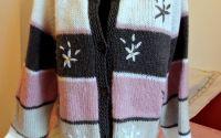 jerseu roz tricotat manual unicat