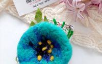 Brosa floare impaslita