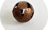 sfera metalica filigranata cuprata  20 mm