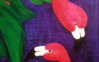 Flamingo - tablou acrilic