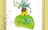 """Print de arta """"Casa mi-e natura"""""""