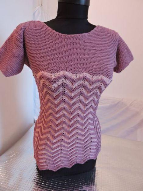 bluza tricotata manual