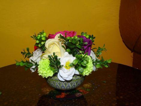 aranjamente cu flori de sapun