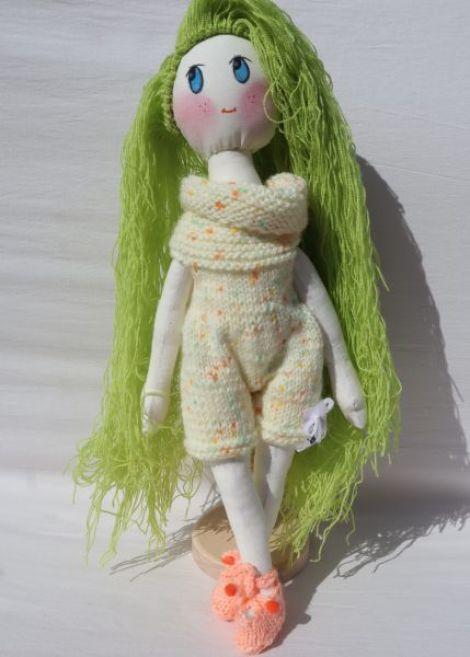 Papusa handmade BabyGreen by Art Republic