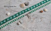 Set bratari glezna -Verde smarald