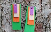 Cercei colorati din hartie gumata