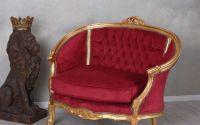 Sofa deosebita din lemn masiv auriu