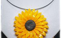 Set cercei si pandantiv floarea soarelui