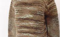 pulover lana tricotat manual unicat