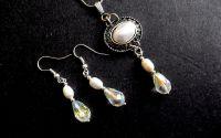 Set cu perle naturale si cristale