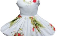 Rochie fete flori de camp si maci 2-3ani