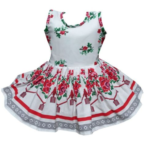 Rochie fete traditional bumbac Moldova2 2-3ani