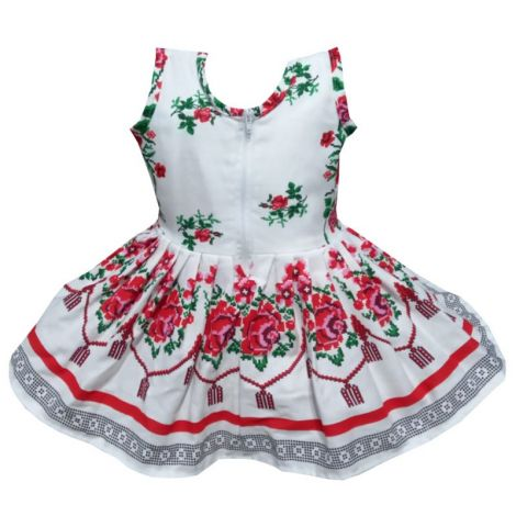 Rochie fete traditional bumbac Moldova2 3-4 ani