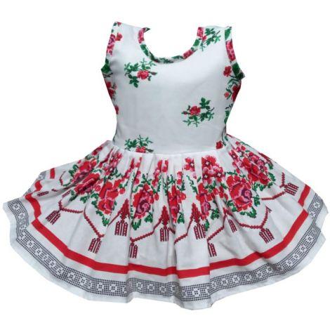Rochie fete traditional bumbac Moldova2 4-5ani