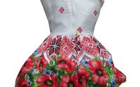 Rochie fete traditional bumbac Oas 2-3ani