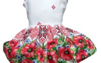 Rochie fete traditional bumbac Oas 5-6ani