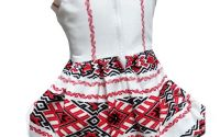 Rochie fete traditional bumbac Oltenia 4-5ani