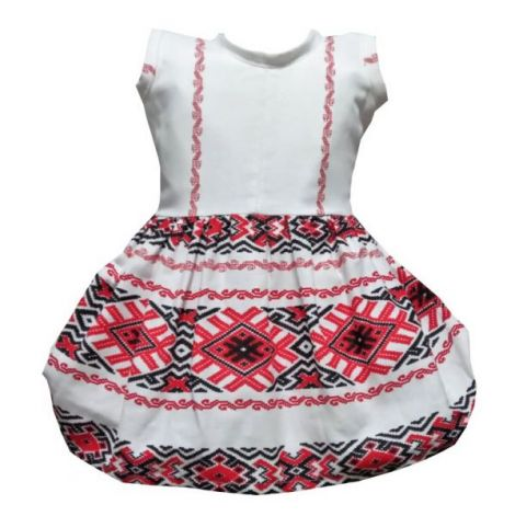 Rochie fete traditional bumbac Oltenia 5-6ani