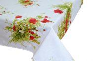 Fata de masa maci 6 pers 150x180cm flori de camp