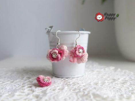 Cercei crosetati La vie en rose