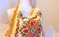 geanta cu torti bambus finalizat cu croseta unicat