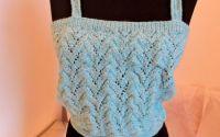 maieu albastru tricotat manual unicat