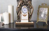 Ceas Art Nouveau cu doua statuete