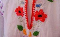 ie cu flori de camp brodata manual unicat