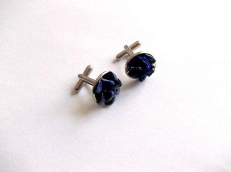 butoni camasa cu lapis lazuli