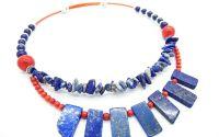 Colier coral si lapis lazuli cod 03