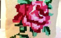 fat de perna cu trandafir roz