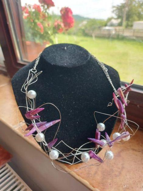 Colier cu sidef si perle