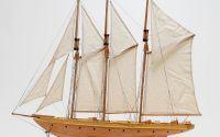 Macheta din lemn a navei ATLANTIC YACHT