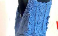 top vesta bluza  albastra