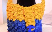 geanta poseta rafie tricolor crosetata manual