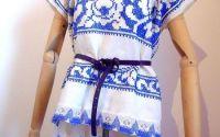 bluza tip ie albastra asimetrica