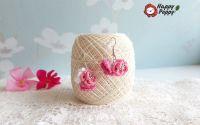 Cercei crosetati Pink Mood