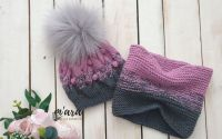 Set tricotat caciula si fular 1-3 ani