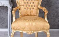 Semifotoliu baroc din lemn masiv auriu