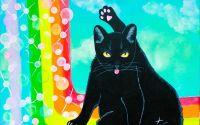 Tablou pictura pisica  La capatul curcubeului