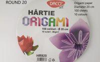 Hartie origami rotunda 20 cm diametru